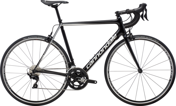 Cannondale SuperSix EVO 105 Color: Black Pearl w/Fine Silver and Cashmere