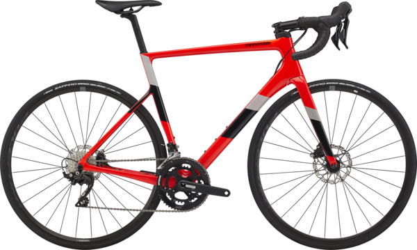 Cannondale SuperSix EVO Carbon Disc 105 Color: Acid Red