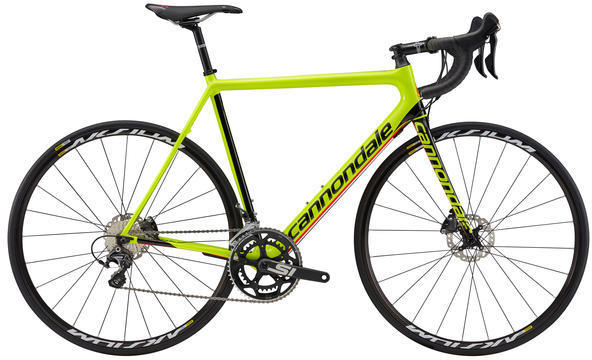 Cannondale SuperSix EVO Disc Ultegra Color: Volt/Jet Black/Acid Red