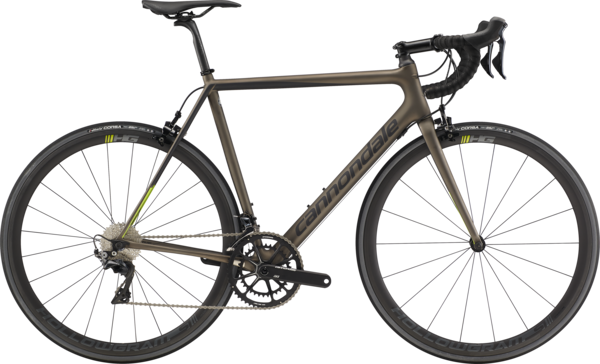 Cannondale SuperSix EVO Carbon Dura-Ace Color: Meteor Gray w/Black Pearl and Acid Green