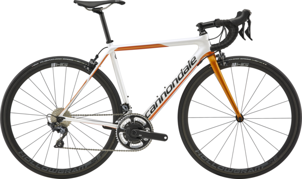 Cannondale SuperSix EVO Carbon Women's Ultegra Race Color: Cashmere w/Tangerine and Graphite