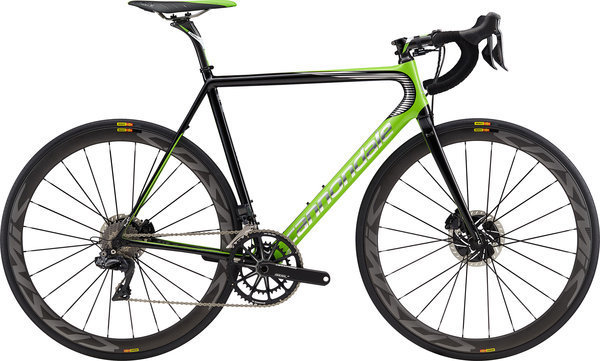 Cannondale SuperSix EVO Hi-MOD Disc Team Color: Team Replica w/Berserker Green
