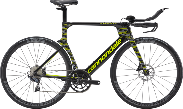 Cannondale SuperSlice Ultegra Color: Jet Black w/Volt and Fine Silver