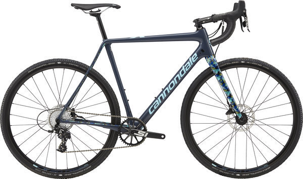 Cannondale SuperX Apex 1 Color: Slate/Jet Black and Aqua - Gloss