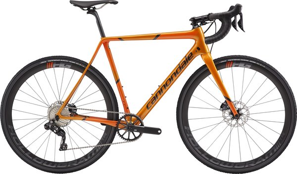 Cannondale SuperX Di2 (h16) Color: Tangerine w/Hazard and Graphite