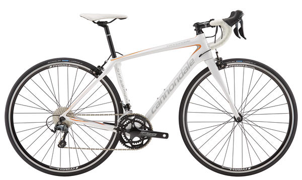 Cannondale Synapse Carbon Tiagra 6 - Women's Color: Magnesium White/Marigold/Primer Gray
