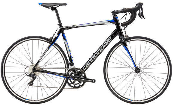 Cannondale Alloy Synapse Sora Color: Black / Cerulean Blue
