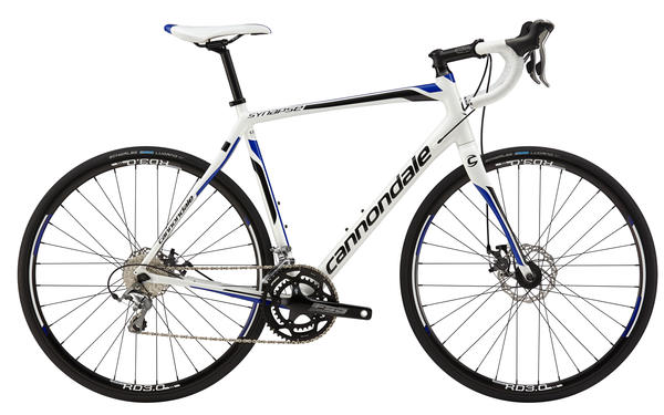 Cannondale Synapse Aluminum Tiagra, Disc Color: Magnesium White w/Ultra Blue