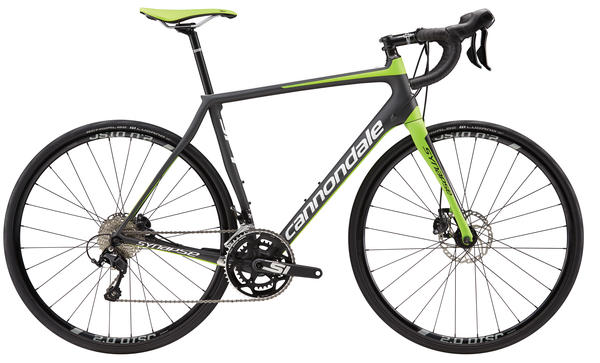 Cannondale Synapse Carbon Disc 105 Color: Jet Black/Magnesium White/Berserker Green Matte