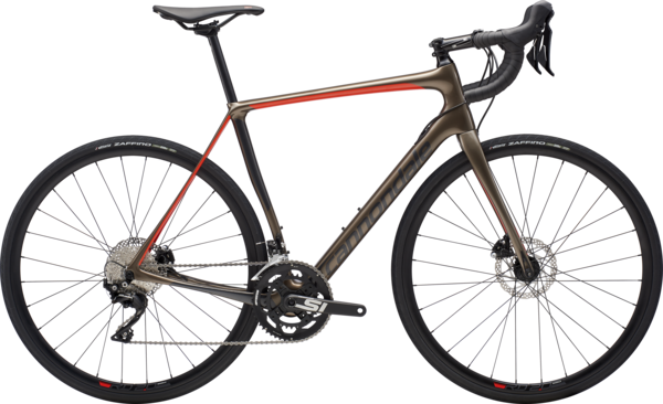 Cannondale Synapse Carbon Disc 105 Color: Meteor Gray w/Graphite and Acid Red