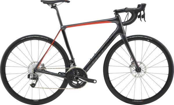 Cannondale Synapse Carbon Disc RED eTap Color: Graphite w/Black Pearl and Acid Red - Gloss