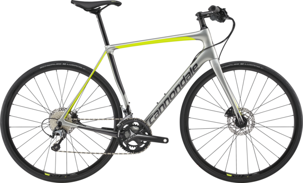 Cannondale Synapse Carbon Disc Tiagra Flatbar Color: Sage Gray w/Graphite and Volt