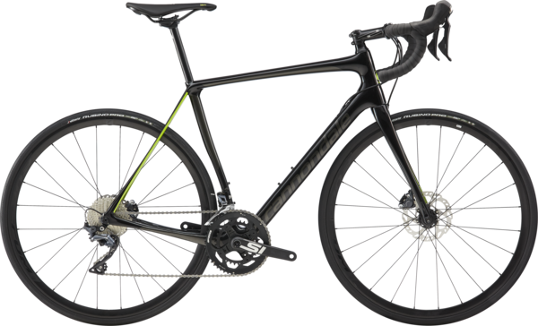 Cannondale Synapse Carbon Disc Ultegra Color: Jet Black w/Anthracite and Acid Green