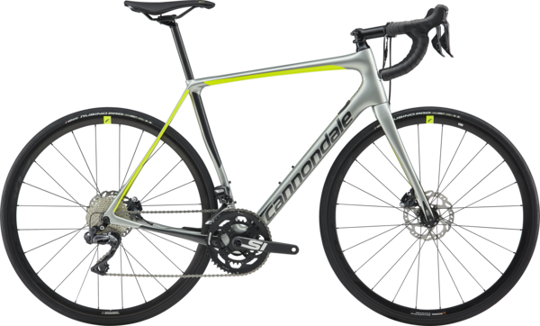 Cannondale Synapse Carbon Disc Ultegra Di2 Color: Sage Gray w/Graphite and Volt