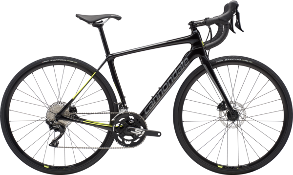 Cannondale Synapse Carbon Disc Women's 105 Color: Black Pearl w/Charcoal and Volt