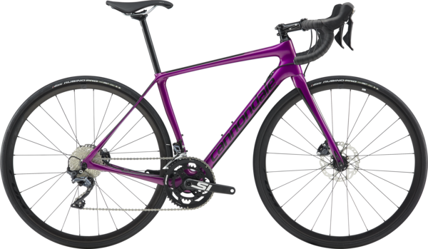 Cannondale Synapse Carbon Disc Women's Ultegra Color: Deep Purple w/Graphite and Pearl Black