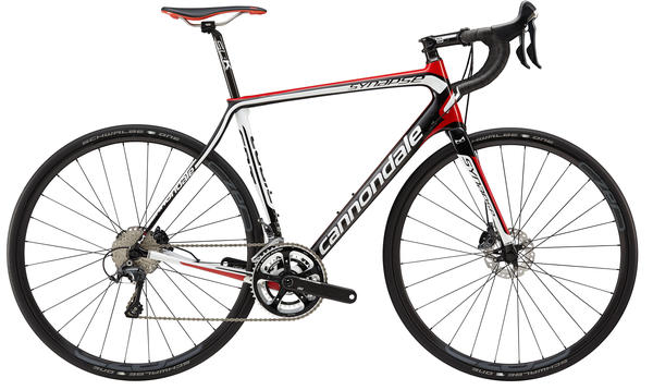 Cannondale Synapse Carbon Hi-MOD Ultegra, Disc Color: Exposed Carbon w/Race Red, Magnesium White