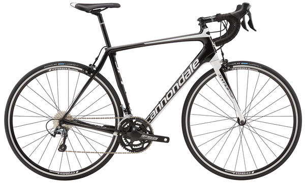 Cannondale Synapse Carbon Tiagra Color: Jet Black/Magnesium White