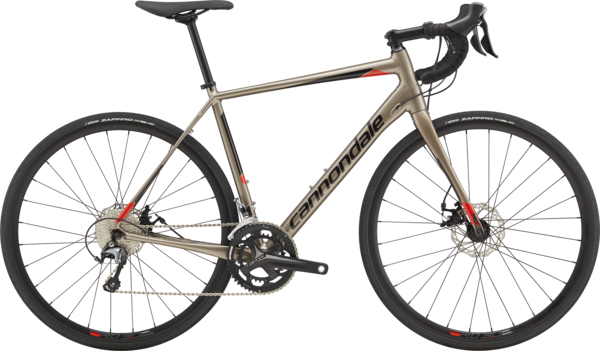 Cannondale Synapse Disc Tiagra Color: Meteor Gray w/Black Pearl and Acid Red