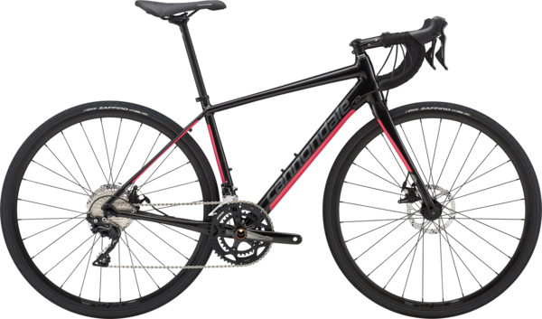 Cannondale Synapse Disc Women's 105 Color: Black Pearl w/Acid Strawberry and Charcoal