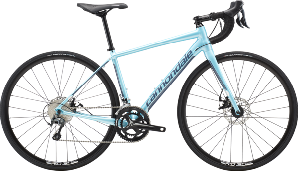 Cannondale Synapse Disc Women's Tiagra Color: Aqua Metallic w/Slate Blue and Cashmere