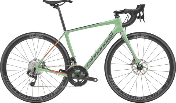 Cannondale Synapse Hi-Mod Disc Women's RED eTap Color: Mint w/Charcoal and Acid Red