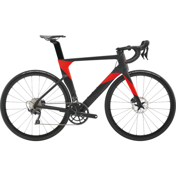 Cannondale SystemSix Carbon Ultegra Color: Black Pearl w/Acid Red and Meteor Gray - Gloss