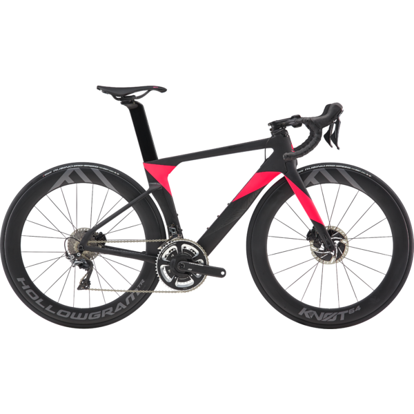Cannondale SystemSix Hi-Mod Dura-Ace Color: Jet Black with Acid Strawberry/Stealth Gray