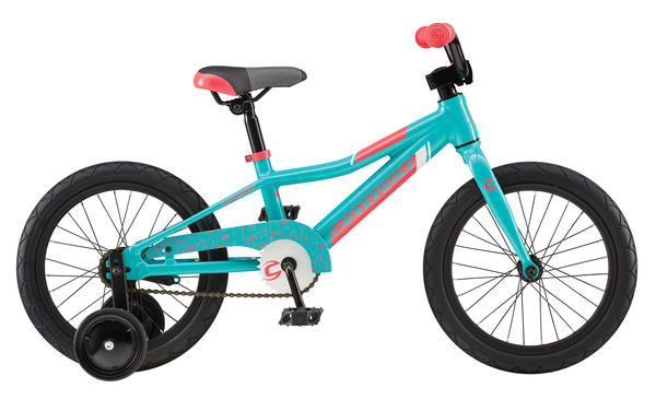 Cannondale Trail 16 Single-Speed Girl's Color: Turquoise