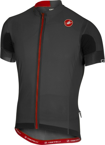 Castelli Aero Race 4.1 Solid Jersey FZ Color: Anthracite