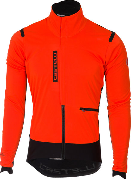 Castelli Alpha RoS Jacket Color: Orange/Black