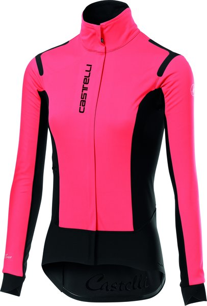 Castelli Alpha RoS W Jacket Color: Brilliant Pink/Black