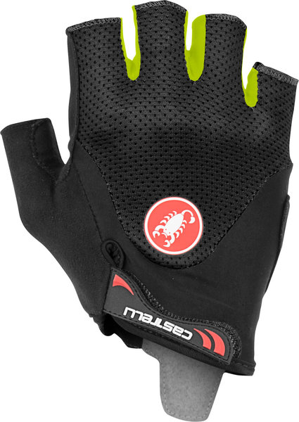 Castelli Arenberg Gel 2 Glove Color: Black/Yellow Fluo