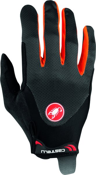 Castelli Arenberg Gel Long-Finger Glove Color: Dark Gray/Orange