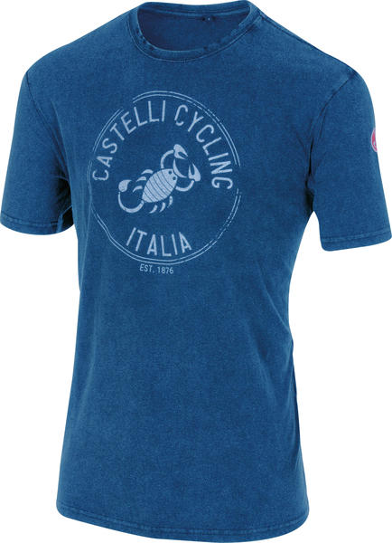 Castelli Armando T-Shirt Color: Melange Blue