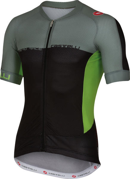 Castelli Aero Race 5.1 FZ Jersey Color: Black/Agave/Sprint Green