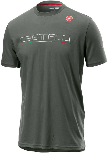 Castelli Classic T-shirt Color: Forest Gray