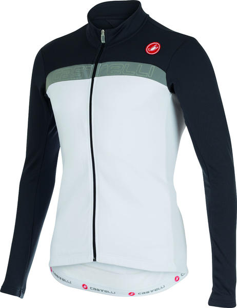 Castelli Criterium Long-Sleeve Jersey FZ Color: White/Anthracite/Reflex