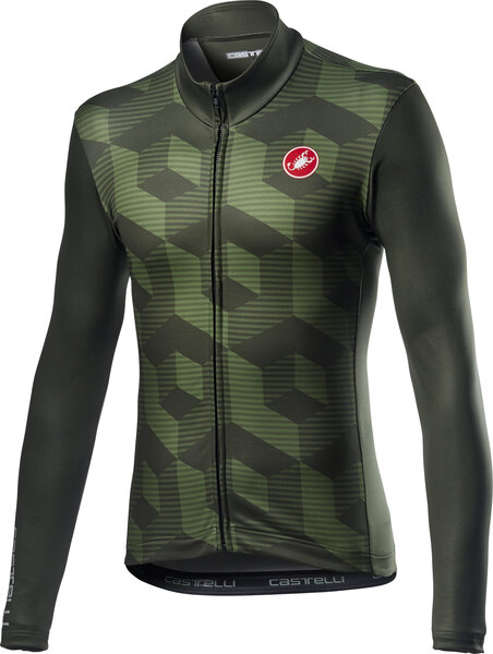 Castelli Cubi Jersey FZ Color: Military Green