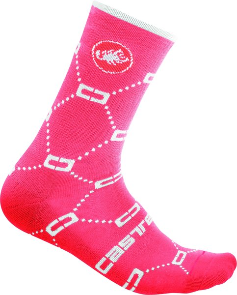 Castelli Doppio C 15 Sock Color: Brilliant Pink
