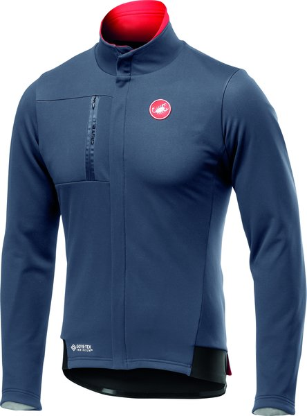 Castelli Double Espresso Jacket Color: Dark Steel Blue