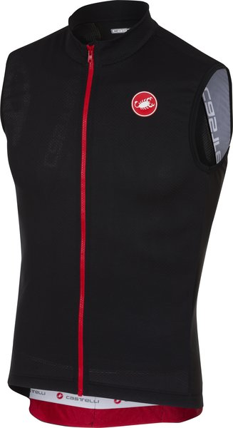 Castelli Entrata 3 Sleeveless FZ Color: Light Black