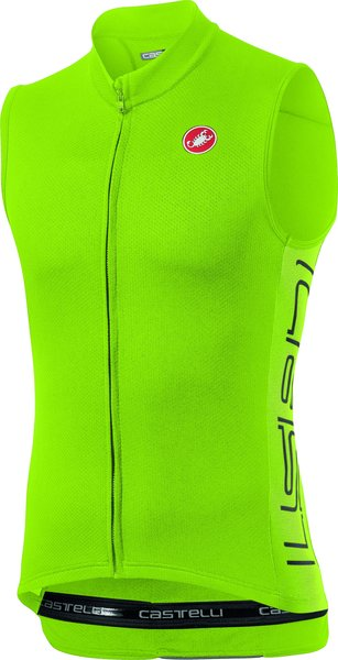 Castelli Entrata V Sleeveless Color: Chartreuse