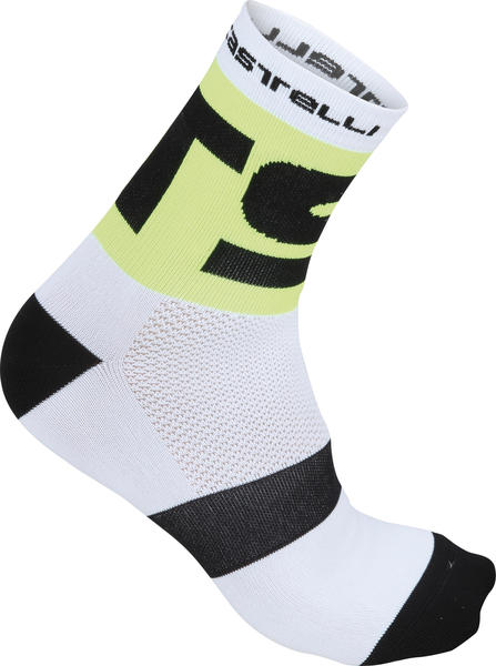 Castelli Free X13 Socks Color: White/Yellow Fluo