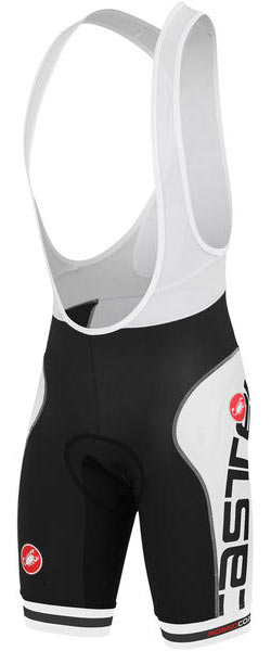 Castelli Free Aero Race Bibshorts (Printed) Color: Black/White/Black