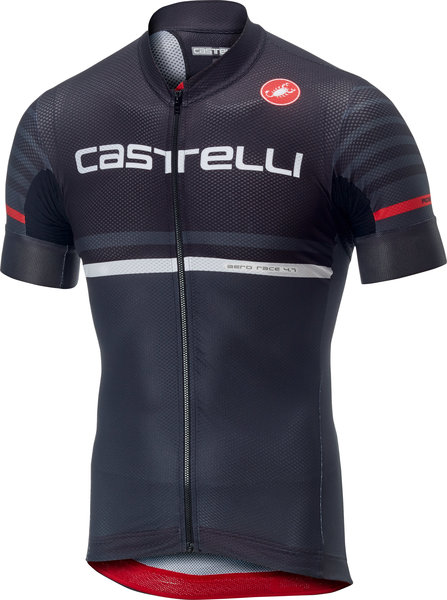 Castelli Free AR 4.1 Jersey FZ Color: Black/Dark Gray