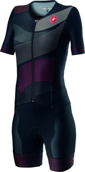 Castelli Free Sanremo 2 W Suit Short Sleeve Color: Multicolor Black