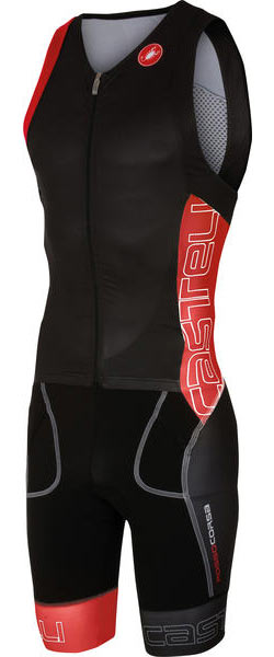 Castelli Free Sanremo Suit Sleeveless Color: Black/Red