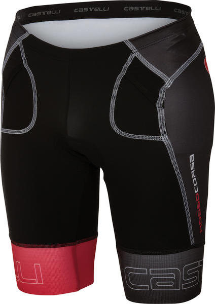 Castelli Free Tri Short Color: Black/Red
