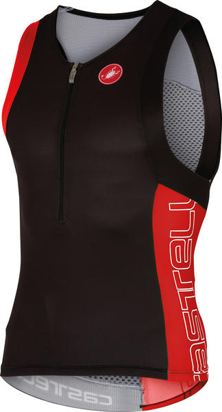 Castelli Free Tri Top Color: Black/Red